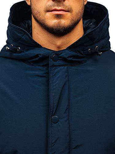 Sportif D'hiver Dunkelblau Homme 1a1 Style Matelassé Blouson Bolf Veste 5285 Parka Capuche E8wxZqF
