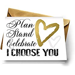 Be My Bridesmaid Proposals Set of 7 Cards with Gold Envelopes