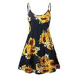 TWGONE Sunflower Dresses for Women Casual Summer