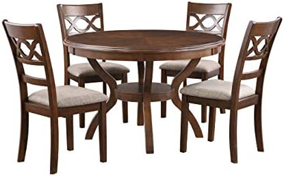 New Classic Furniture Cori 5-Piece Round Dining Table Set