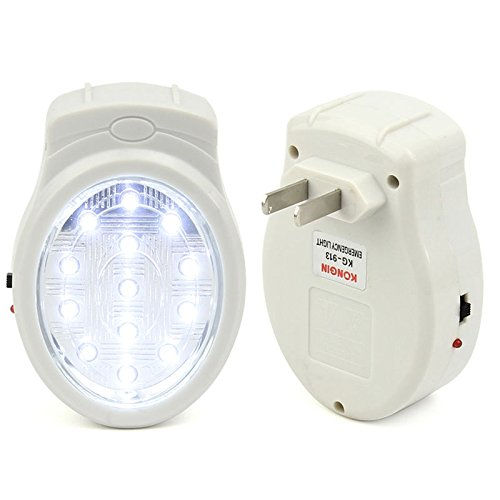 oenbopo Emergency Automatic Power Failure Outage Rechargeable 13 LED Light lamp Bulb Plug In