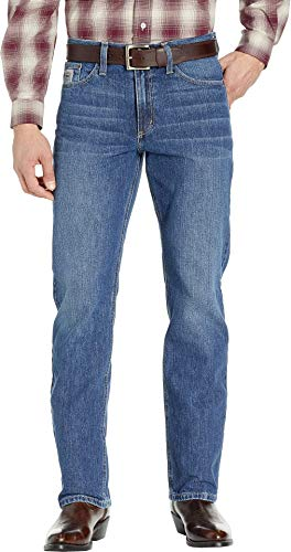 Stonewash Slim Fit Jeans - Cinch Men's Silver Label Slim Fit Jeans, Rigid Medium Stonewash, 34 x34