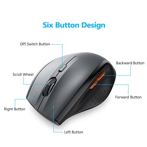 tecknet classic 2 4g portable optical wireless mouse with usb nano receiver for notebook pc. Black Bedroom Furniture Sets. Home Design Ideas