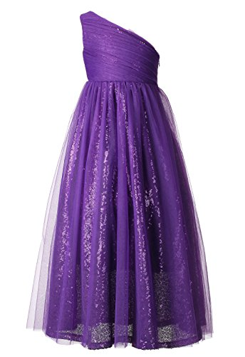 Happy Rose Flower Girl Dresses Maxi Long Sequins Tulle Pageant Dress for Party