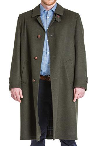 Boiled Zip Wool Jacket - Robert W. Stolz Sud Tiroler - Men's Austrian Loden Wool Green Overcoat with Zip Out Lining