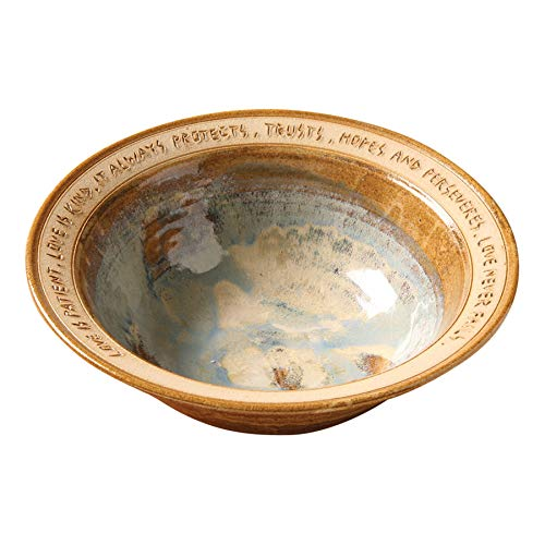 (ART & ARTIFACT Love is Patient Artist-Made Stoneware Wedding Bowl)