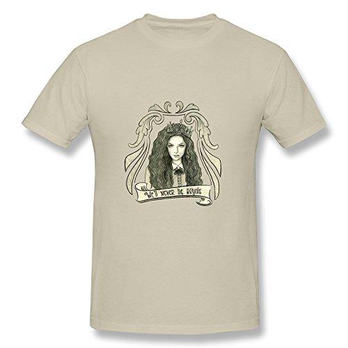 RILI Men's Lorde Will Never Be Royals T-shirt Size XS Natural