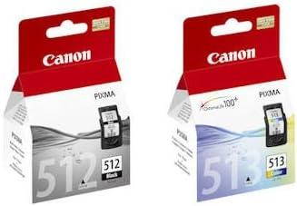 Canon Original Tintenpatronen Canon Pg 512 Und Cl 513 Für Canon Pixma Mp250 Schwarz Und Farbe Bürobedarf Schreibwaren