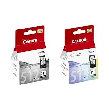Originales genuinos Canon PG512 (pg-512) negro y CL513 (CL-513 ...