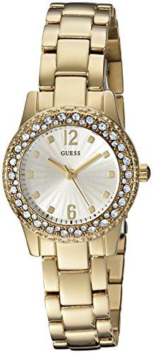 Gold Tone Crystal Bezel Watch - 6