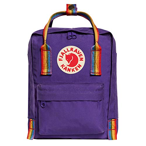 Fjallraven - Kanken Mini Classic Backpack for Everyday, Purple/Rainbow Pattern]()