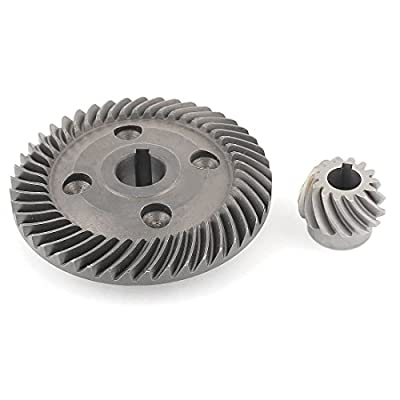2 in 1 Power Tool Spiral Bevel Gear Set for Hitachi 180 Angle Grinder