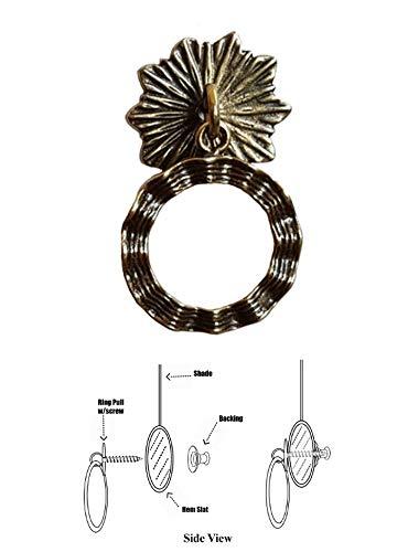 (Shade Doctor of Maine - Designer Series Roller Shade Ring Pull - Antique Brass Wavy Ribbon)