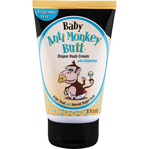 Anti Monkey Butt Baby Diaper Rash Cream   Treats Skin Irritation   Zinc Oxide Cream with Calamine   3 Ounces