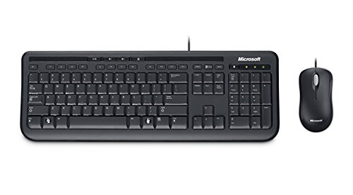 microsoft wired desktop 600 keyboard and mouse set uk layout black gear4students. Black Bedroom Furniture Sets. Home Design Ideas