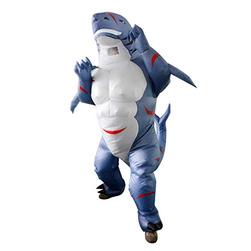 HICOSER Inflatable Muscle Shark Funny Blow up Cosplay