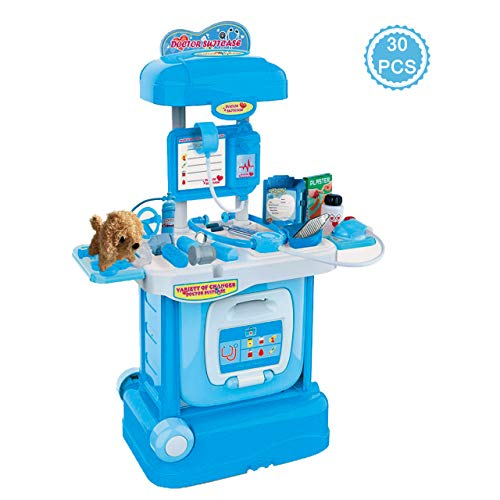 Gifts2U Kids Doctor Kit, Vet Pet Pretend Play Toys with Handy Carrying Suitcase Medical Role Play Educational Toy Doctor Playset for Girls Boys Ages 3-6