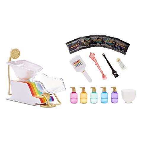 Rainbow High Salon Playset with Rainbow of DIY Washable Hair Color Foam for Kids and Dolls – Doll Not Included