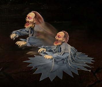 Amazon.com: LUNGING ZOMBIE REAPER Animated Animatronic Scary ...