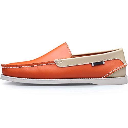 Zapatos Encaje Hombre Y Beige para Classic Barco 45 del Zapatos De Naranja Tamaño Casuales Wealsex 38 ZXqYwz4RWX