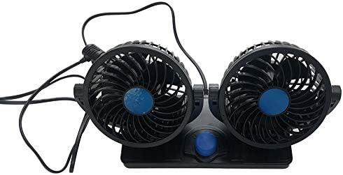 HOPQ Ventilador eléctrico de Coche de 12 V con Dos Cabezales ...