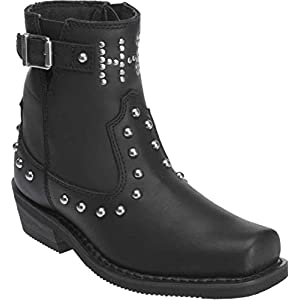 Harley-Davidson Women's Deanne Leather Motorcycle Boots. D87079 (Black 8)