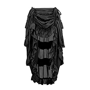 Charmian Women's Steampunk Gothic High Low Cyberpunk Skirt