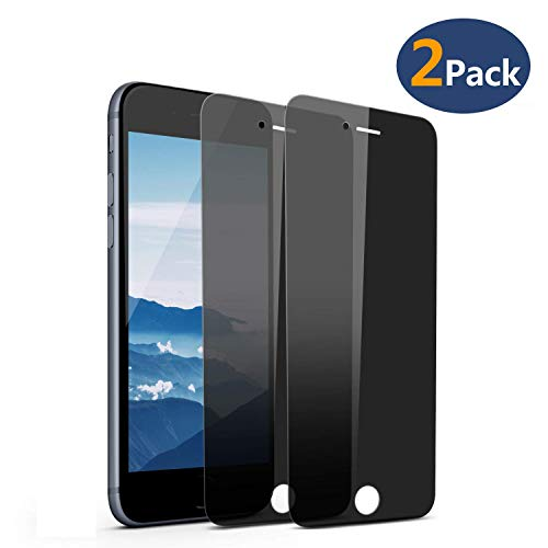 LEDitBe Privacy Screen Protector for iPhone 6/7/8(4.7) 9H Tempered Glass, Edge to Edge Full Cover Screen Protector [Anti-Fingerprint] [Bubble Free] [Full Coverage] (Black)