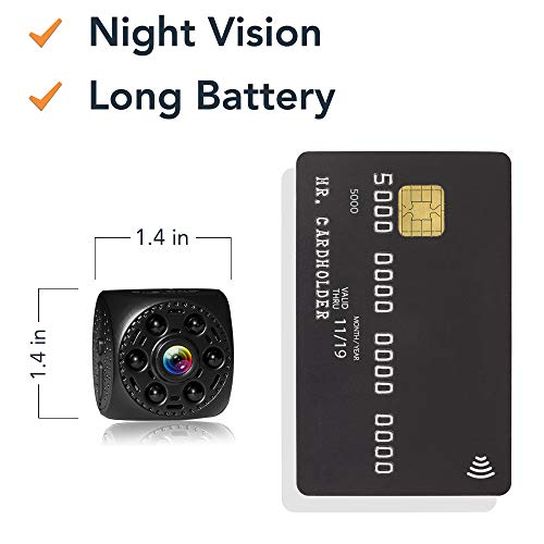Mini Spy Camera Timeqid – with and Without WiFi Hidden Camera Night Vision 170° Wide Angle Long Battery Rechargeable Motion Detection HD Video