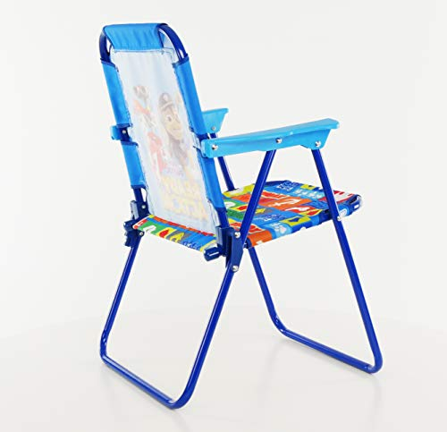 Super Paw Patrol Blue Patio Chair For Kids Portable Folding Lawn Chair Short Links Chair Design For Home Short Linksinfo