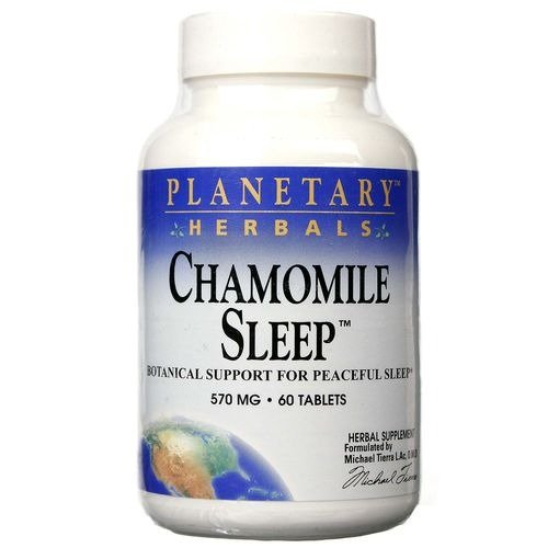 Planetary Herbals Chamomile Sleep Tablets, 60 Count ()