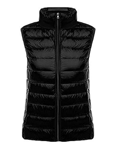 Women's Down Gilet Coat Vest Ultra Light Weight Packable Puffer Jacket Black
