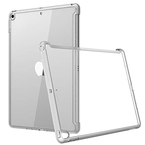 i-Blason Case for iPad 7th Generation 10.2 2019, Compatible with Official Smart Cover and Smart Keyboard, Clear Slim Hybrid Case Cover for New iPad 10.2 (2019 Release) (Clear)