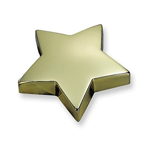 Plated Star Paperweight - Jewelry Adviser Gifts Brass-plated Star Paperweight