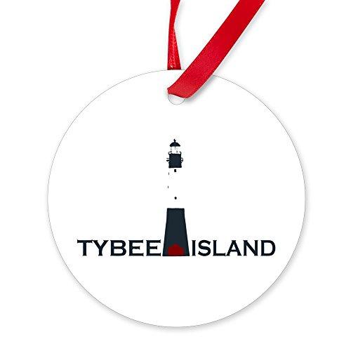 CafePress Tybee Island Lighthouse Design. Round Christmas Ornament