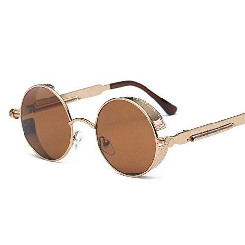 Shop gafas sol de Uno metálicas de sol Gafas gafas reflectantes de sol sol de redondas Gafas 6 0qfr0