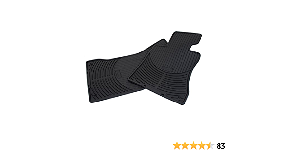 For BMW E65 E66 760Li Set of 2 All Weather Front Rubber Beige Floor Mats OES