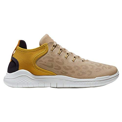 Nike Womens Free Rn 2018 Leather Low Top Lace Up Running Sneaker, Tan, Size 9.0 -