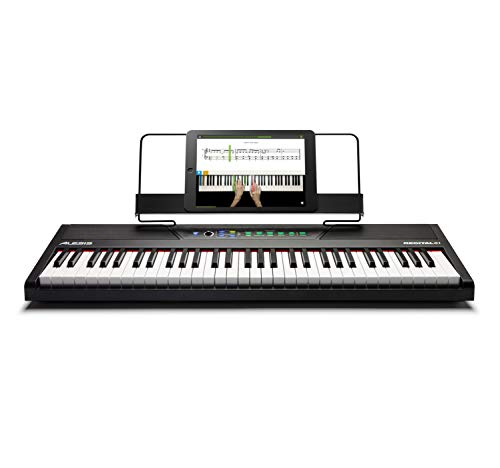 Read About Alesis Recital 61 - 61-Key Digital Piano / Electric Keyboard with Built-In Speakers, Semi...