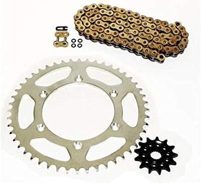 Suzuki RM125 RM 125 Gold O Ring Chain /& Sprocket 12//51 520X114L