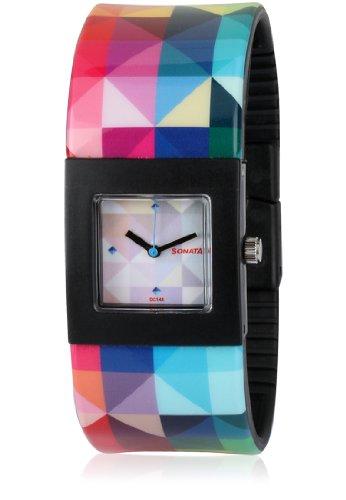 Sonata Analog Multi Color Dial Women #39;s Watch   8978PP03