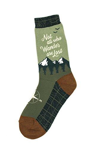 Foot Traffic - Women's Education-Theme Socks, Wanderer (Shoe Sizes 4-10) -
