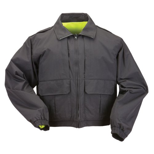 Tactical High Vis Reversible Jacket (5.11 Tactical #48095 Reversible High Vis Duty Jacket (Black, X-Large))