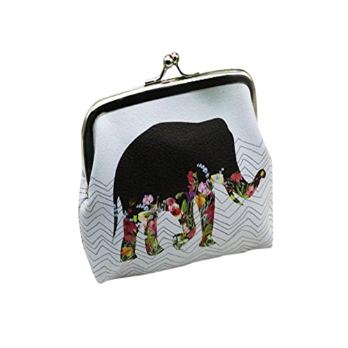 Clearance! FDelinK Women Retro Vintage Small Coin Pockets Hasp Purse Clutch Wallet Bags (Elephant-3)