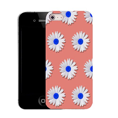 Mobile Case Mate IPhone 5 clip on Silicone Coque couverture case cover Pare-chocs + STYLET - mass daisy pattern (SILICON)
