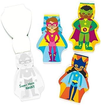 Baker Ross- Cuadernos de Notas de superhéroes (Pack de 8) para Que los niños escriban: Amazon.es: Juguetes y juegos
