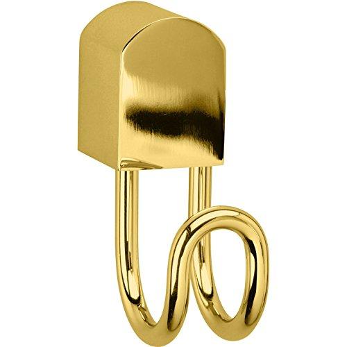 Bellaterra Wall Towel Holder Robe Hook Hanger Rack Coat for Bath / Kitchen Brass (Polished Gold, 1-Hook) by W-Luxury (Image #1)