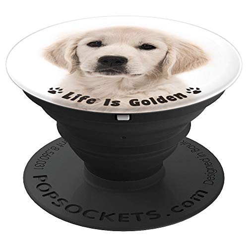 - Golden Retriever Puppy Cute Dog Gift - PopSockets Grip and Stand for Phones and Tablets