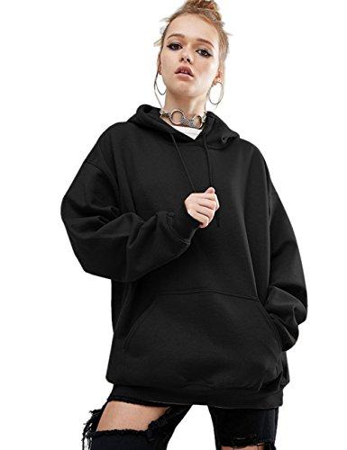 Aibrou Women Pullover Hoodie Long Sleeve Casual Sweatshirt