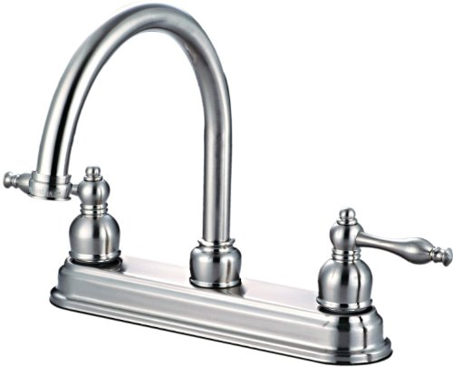 Hardware House 122757 Kitchen Faucet, Satin Nickel